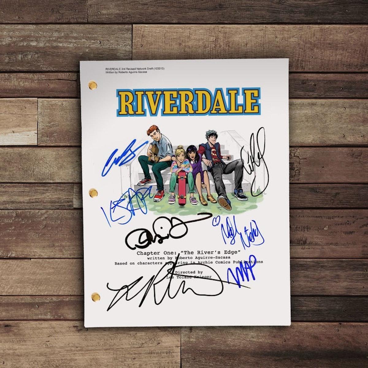 Signed 'Riverdale' Script