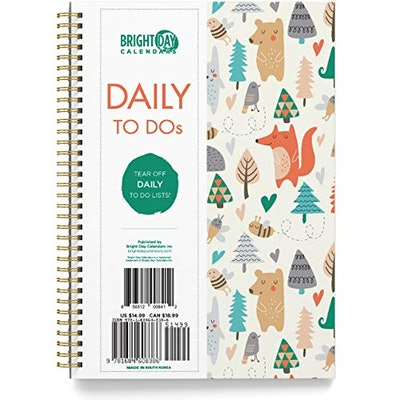 Bright Day Calendars To Do List Daily Task Checklist Planner