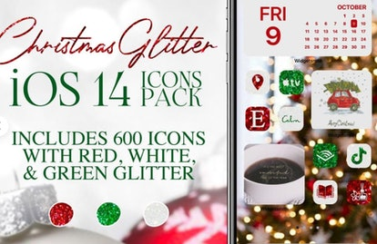 Holiday Glitter iOS 14 Home Screen Design Pack
