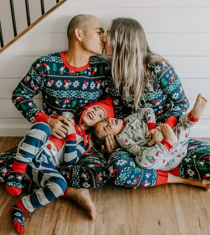 Gnome Sweet Gnome Matching Family Pajamas - Adult Long John Top In Organic Cotton