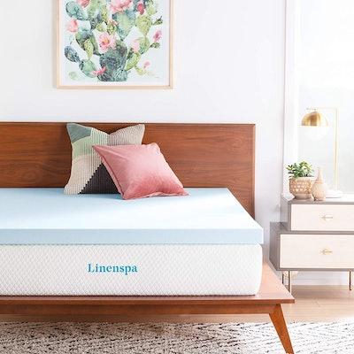 Linenspa 3-Inch Gel Infused Memory Foam Mattress Topper