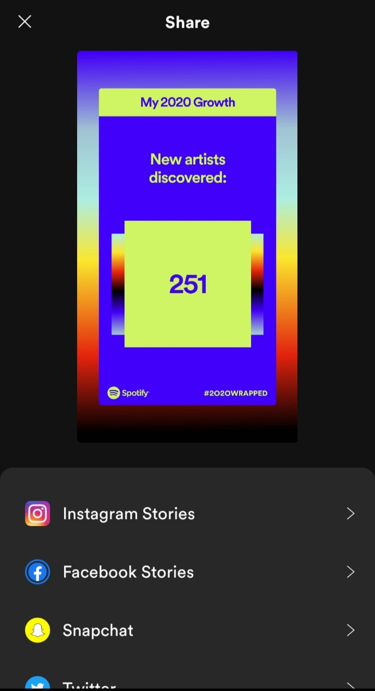 Here's how to share your Spotify 2020 Wrapped results with your friends.