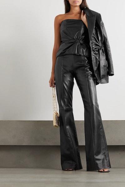 Hana Leather Flared Pants