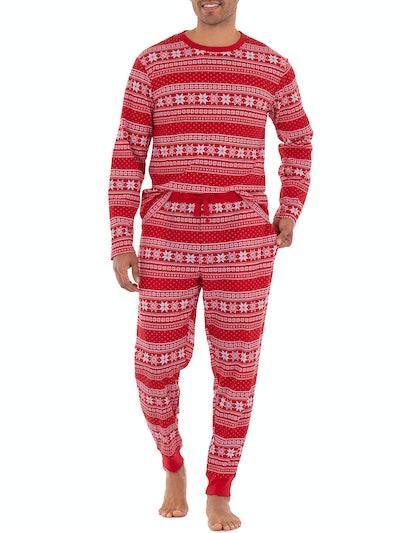 George Men's Holiday Thermal Pajama Set
