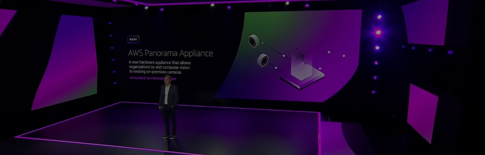 Amazon Panorama adds machine learning smarts to existing cameras.