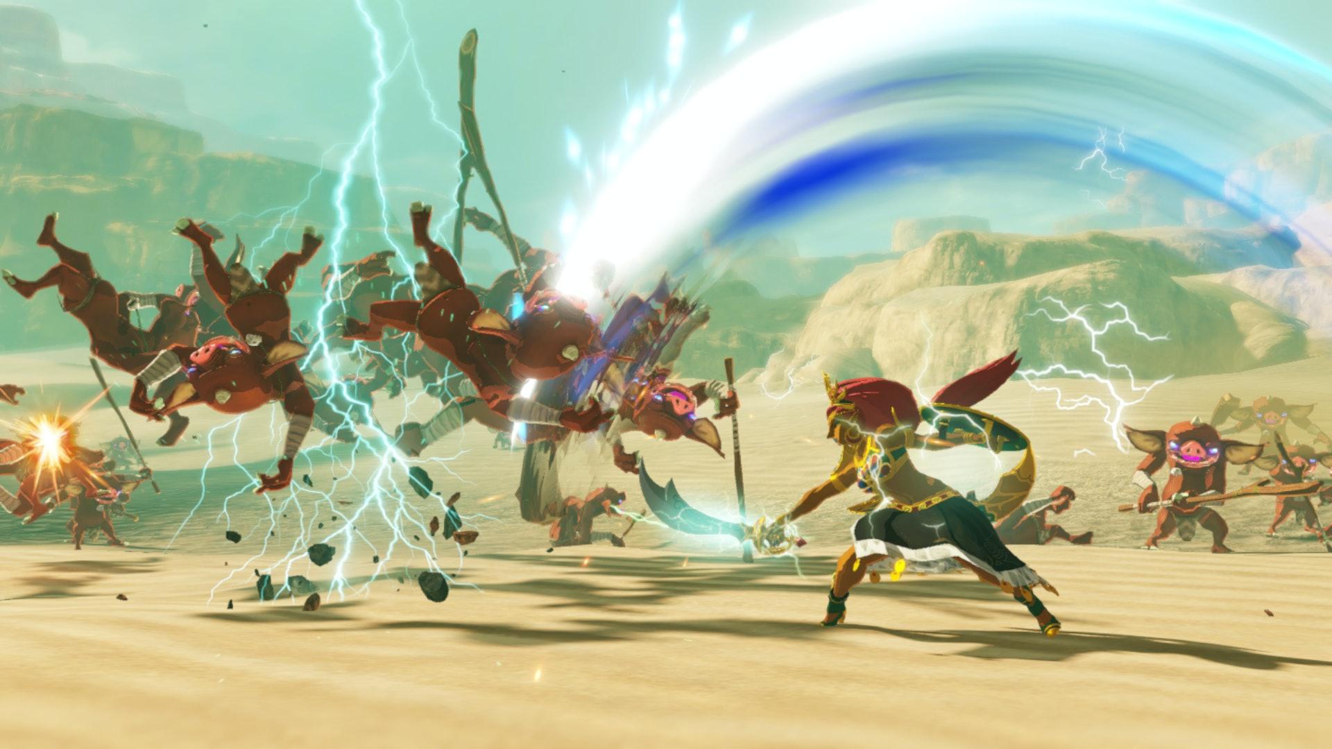 Urbosa é excepcional em eliminar grupos de turbas. Koei Tecmo / Nintendo