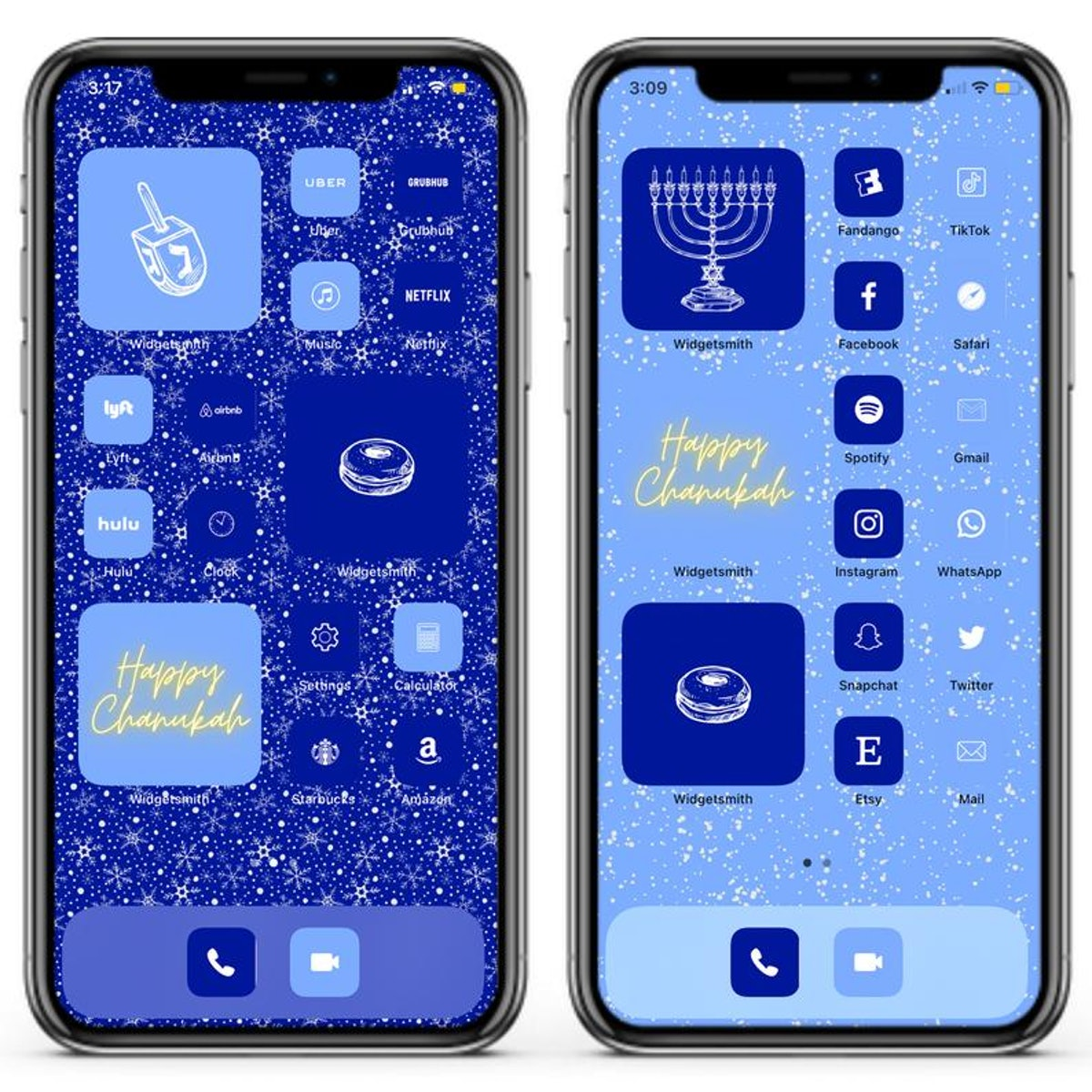 Hanukkah iOS 14 Home Screen Design Pack
