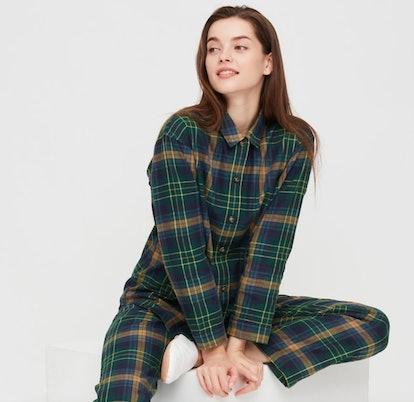 Women Flannel Long-Sleeve Pajamas