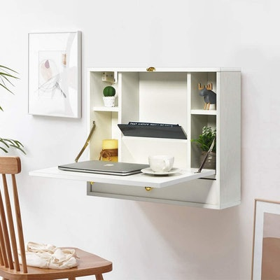 Wall Mounted Table, Multi-Function Wall Mount Laptop Desk