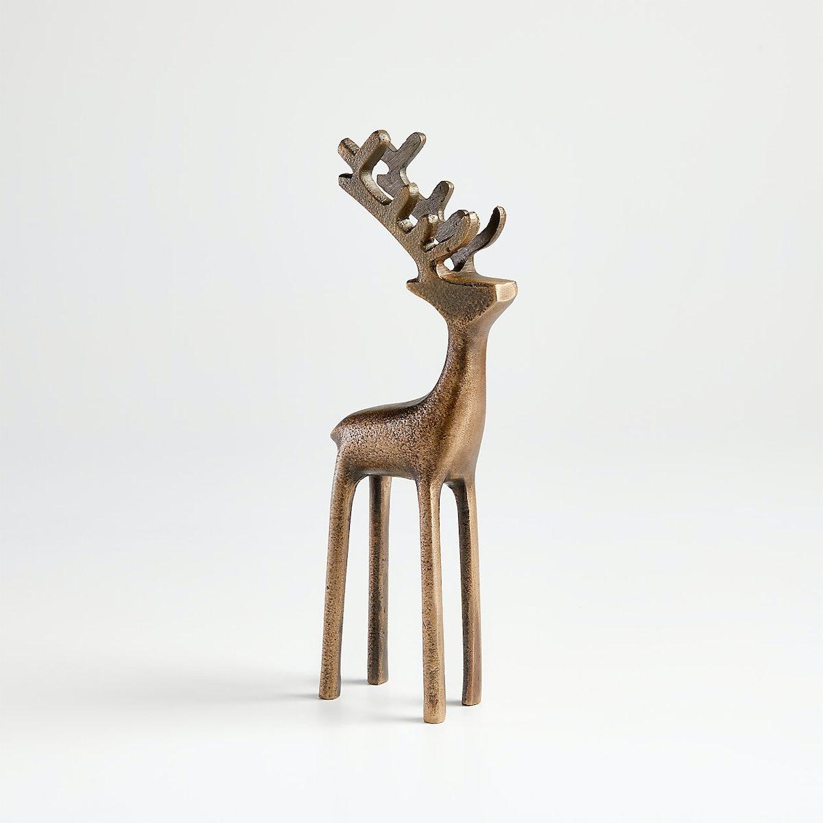 """9"""" Brass Reindeer"""