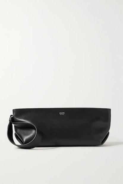 Alma small leather clutch