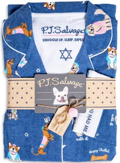 PJ Salvage Printed Flannel Pajama Set