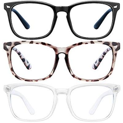 LNEKEI Blue Light Blocking Glasses - 3Pack