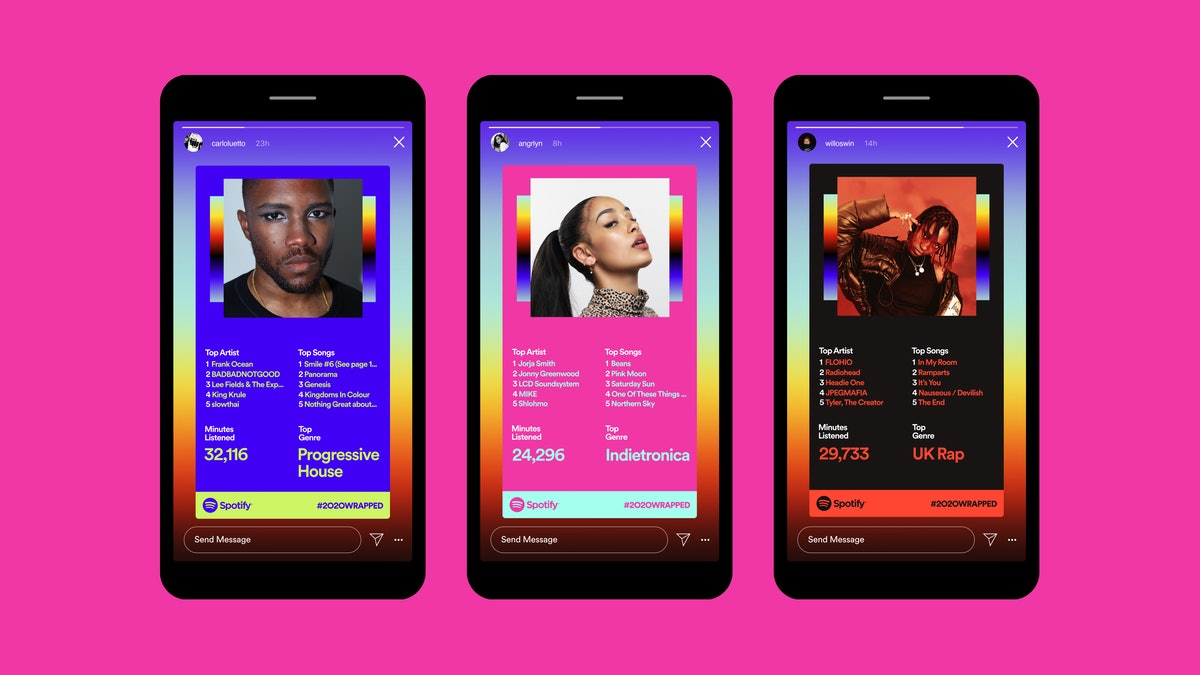 Here's how to share your Spotify 2020 Wrapped results on Instagram and Facebook.