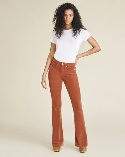 Beverly High-Rise Skinny-Flare Corduroy Jean