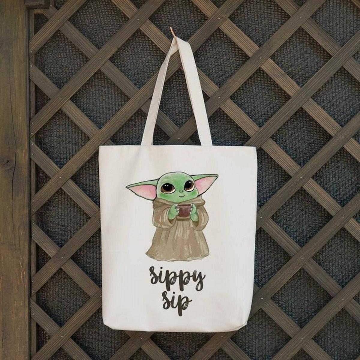 Baby Yoda Tote Bag