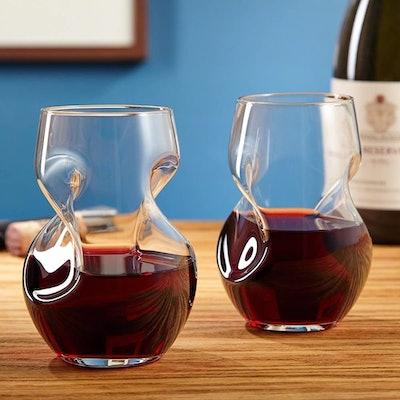 Brilliant Aerating Stemless Wine Glasses (2-Pack)