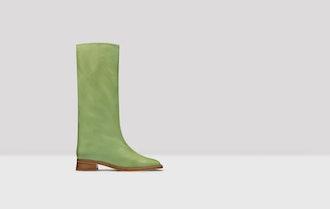 Anahera Jade Leather Tall Boot