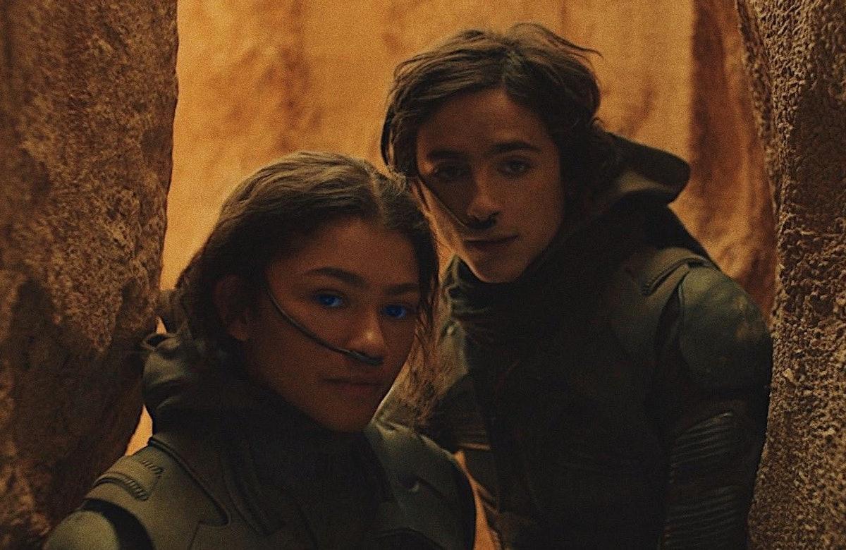 Zendaya and TImothée Chalamet in Dune.