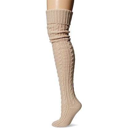 Muk Luks Knee High Cable Socks (28 Inch)