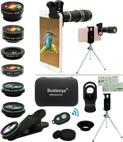 Bostionye 11-In-1 Phone Camera Lens Kit