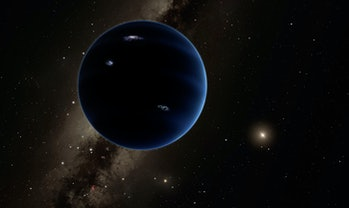 Artist's concept of a hypothetical planet orbiting far from the Sun.