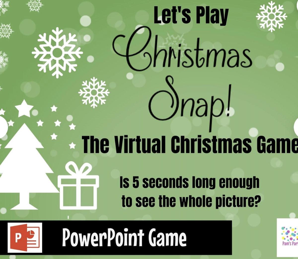 Virtual Game Christmas Snap! — PamsPartyPrintables