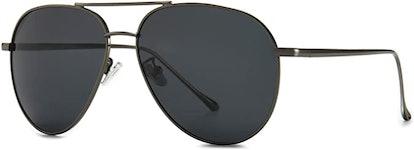 SUNGAIT Oversized Aviator Sunglasses