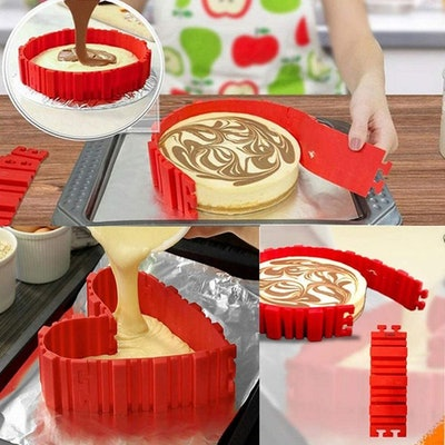 SIMUR Silicone Cake Molds (8 Pack)