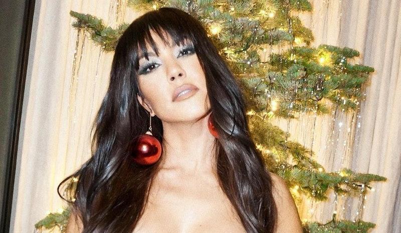 Kourtney Kardashian eye makeup 2020 holidays.