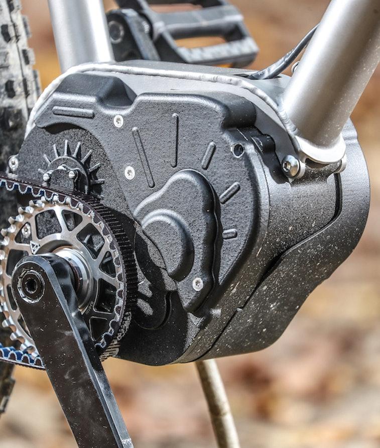 A close-up shot of Valeo's motor and transmission unit.