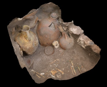 3D reconstruction of one of the grave sites found at Megiddo