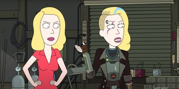 space beth rick morty