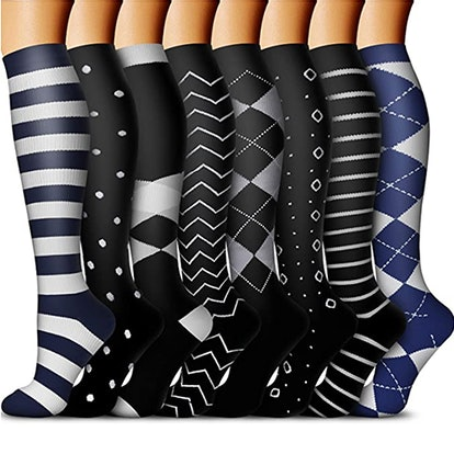 QUXIANG Copper Compression Socks (8-Pack)