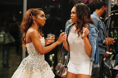 Candiace Dillard and Monique Samuels in 'RHOP' Season 4 via Bravo's press site
