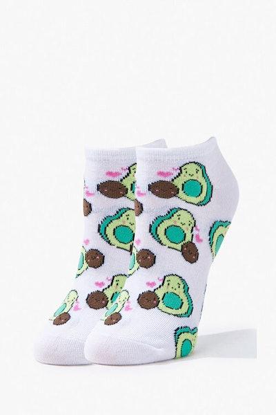 Avocado Print Ankle Socks