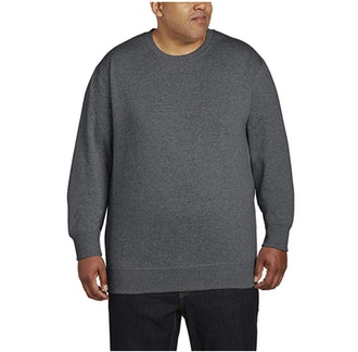 Amazon Essentials Big & Tall Crew-Neck Fleece Sweatshirt