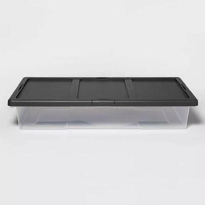 Underbed Latching Storage Bin Clear