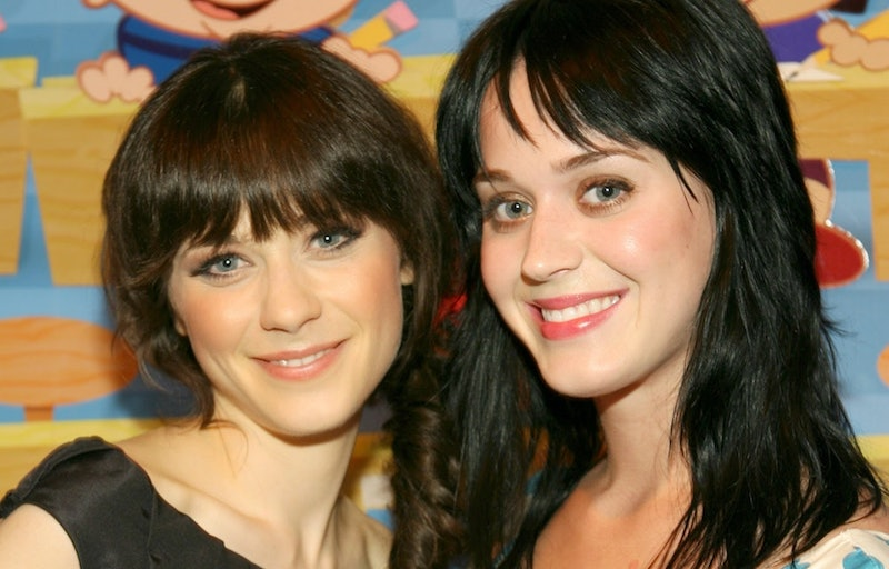 Zooey Deschanel and Katy Perry
