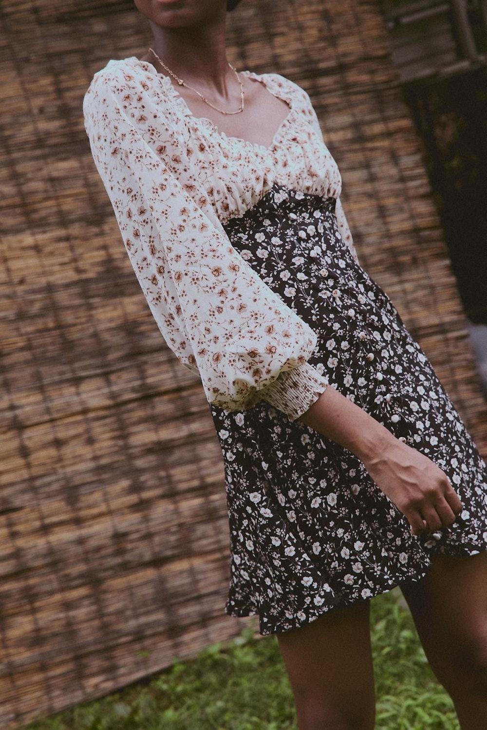 Two Good Two-Tone Mini Dress