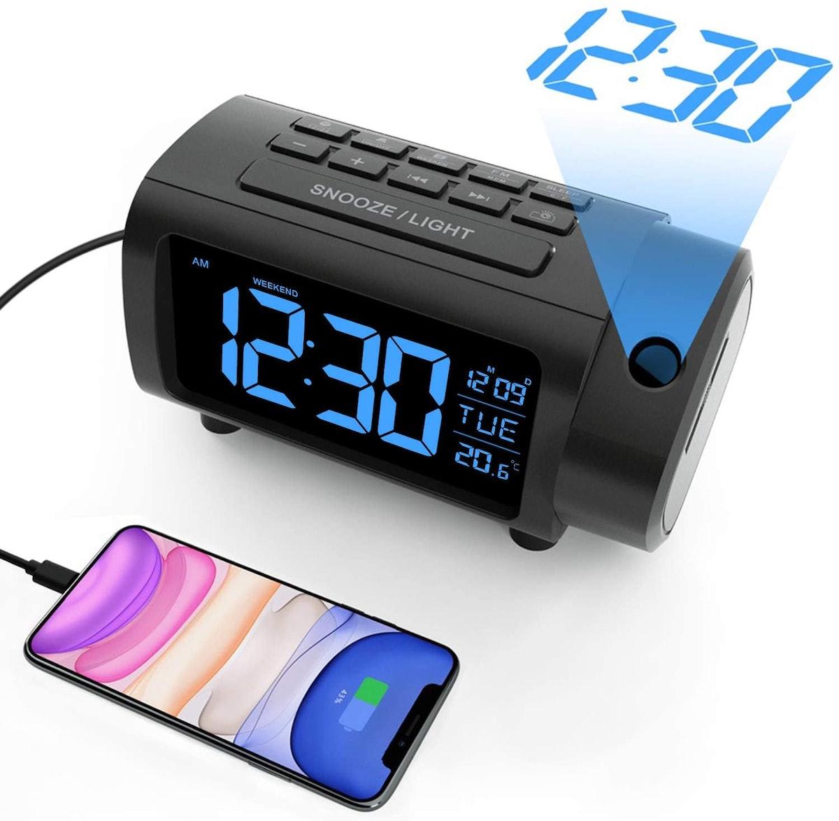 LIORQUE Projection Alarm Clock