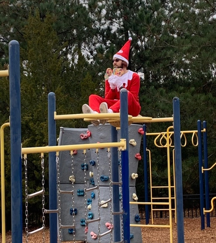 Kensington Elementary School Principal Terry Vaughn Jr. turned himself into a living Elf On The Shelf as a way of bringing students a bit of holiday cheer.