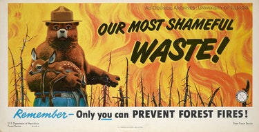 A 1949 Ad Council produced forest fire prevention ad.