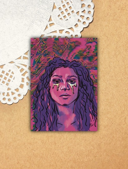 Jiwookimart Euphoria Rue Illustration Print