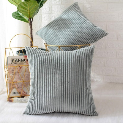 MERNETTE Corduroy Throw Pillow Cover (2-Pack)