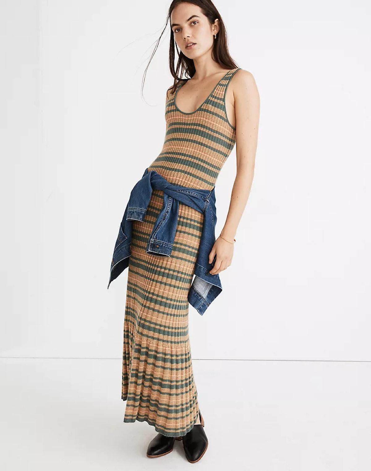 Madewell Striped Tank Sweater Dress