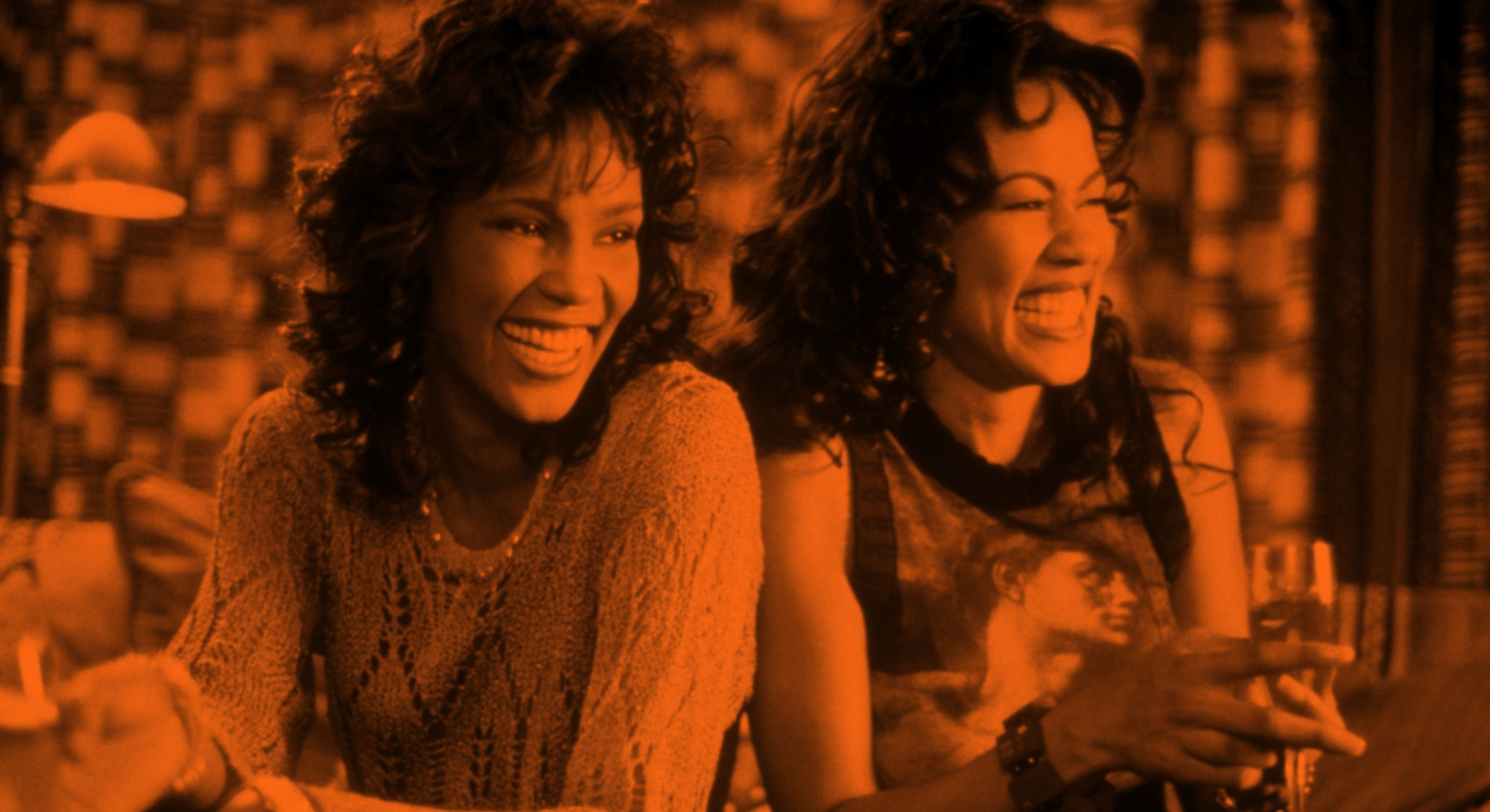 WHITNEY HOUSTON and LELA ROCHON in Waiting To Exhale