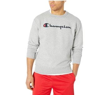 Champion Graphic Powerblend Fleece Crew