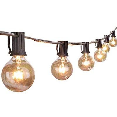 Outdoor String Lights 25 Feet G40 Globe Patio Lights