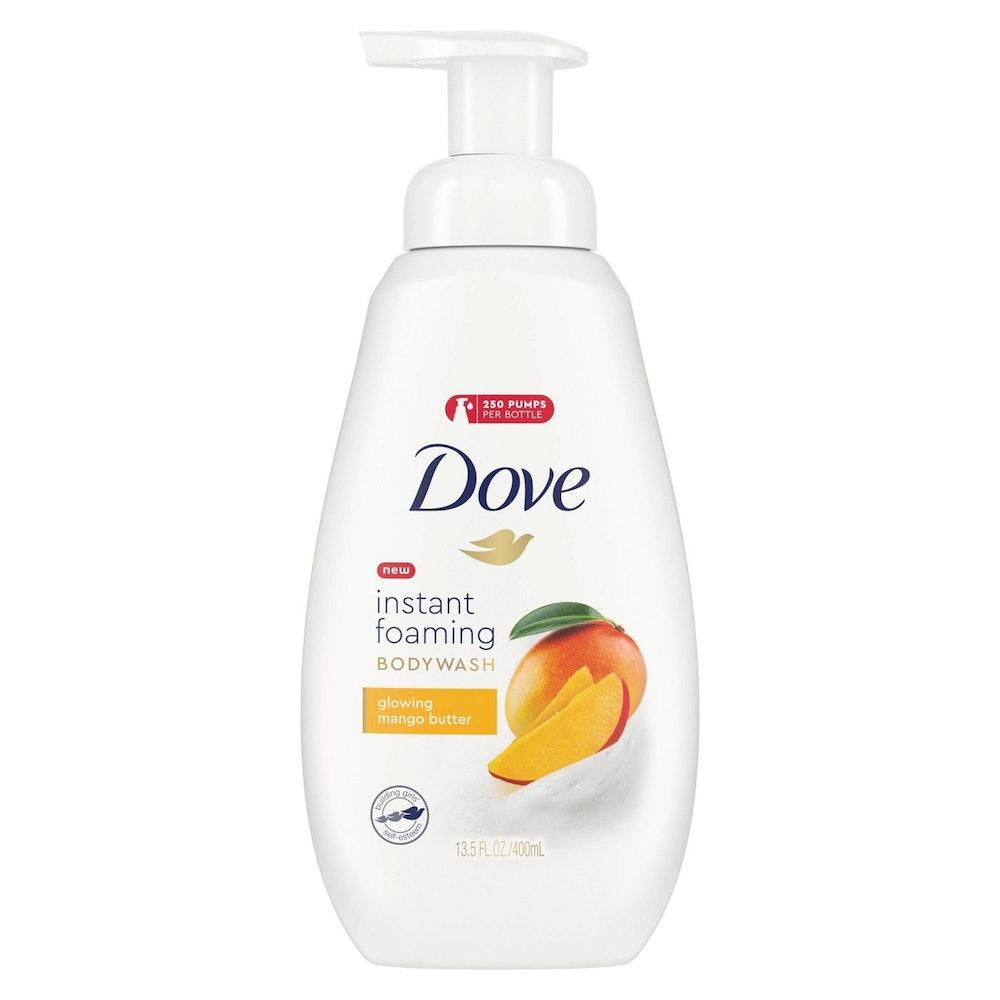 Dove Instant Foaming Glowing Mango Butter Body Wash Soap